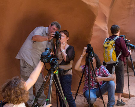 Lezione nell'Antelope Canyon